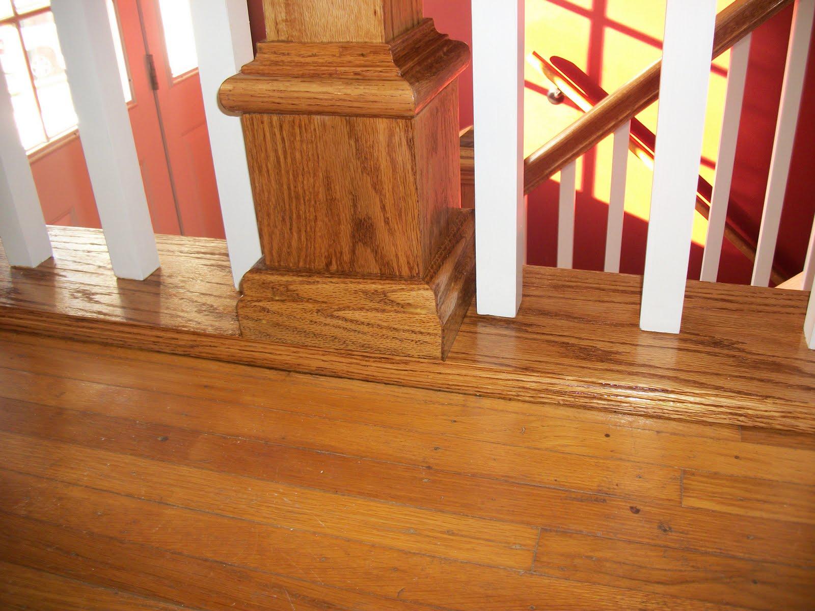 interior stair Case railing designs, White Baluster Oak stair railings  title=