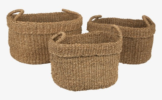 sisal storage baskets