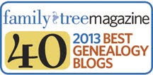 2013 Family Tree Magazine Top 40 Blogs