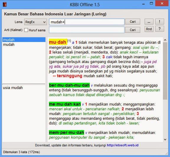 Download dan install Kamus Besar Bahasa Indonesia (KBBI) untuk Sistem Operasi Windows