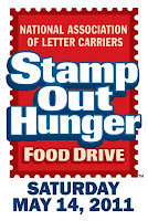 stamp out hunger - may 14, 2011: largest single-day food drive in US is saturday