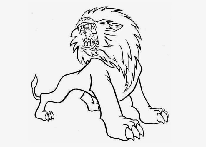 lion growling coloring pages - photo#9
