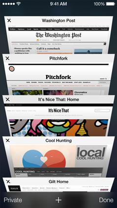 Safari is iOS 7 with Tabs