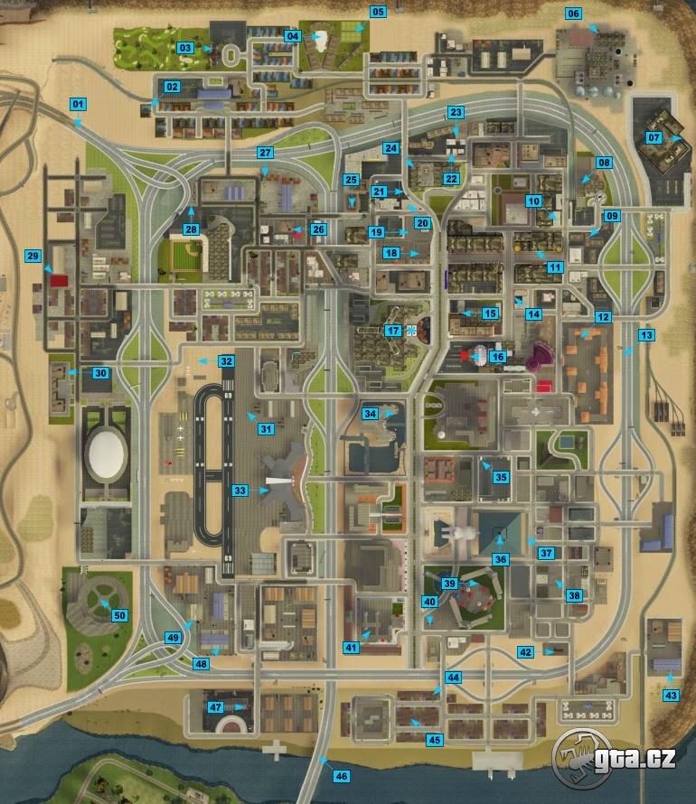 Mapa das ferraduras do GTA SAN ANDREAS