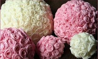 decoracion rosa pintura y madera