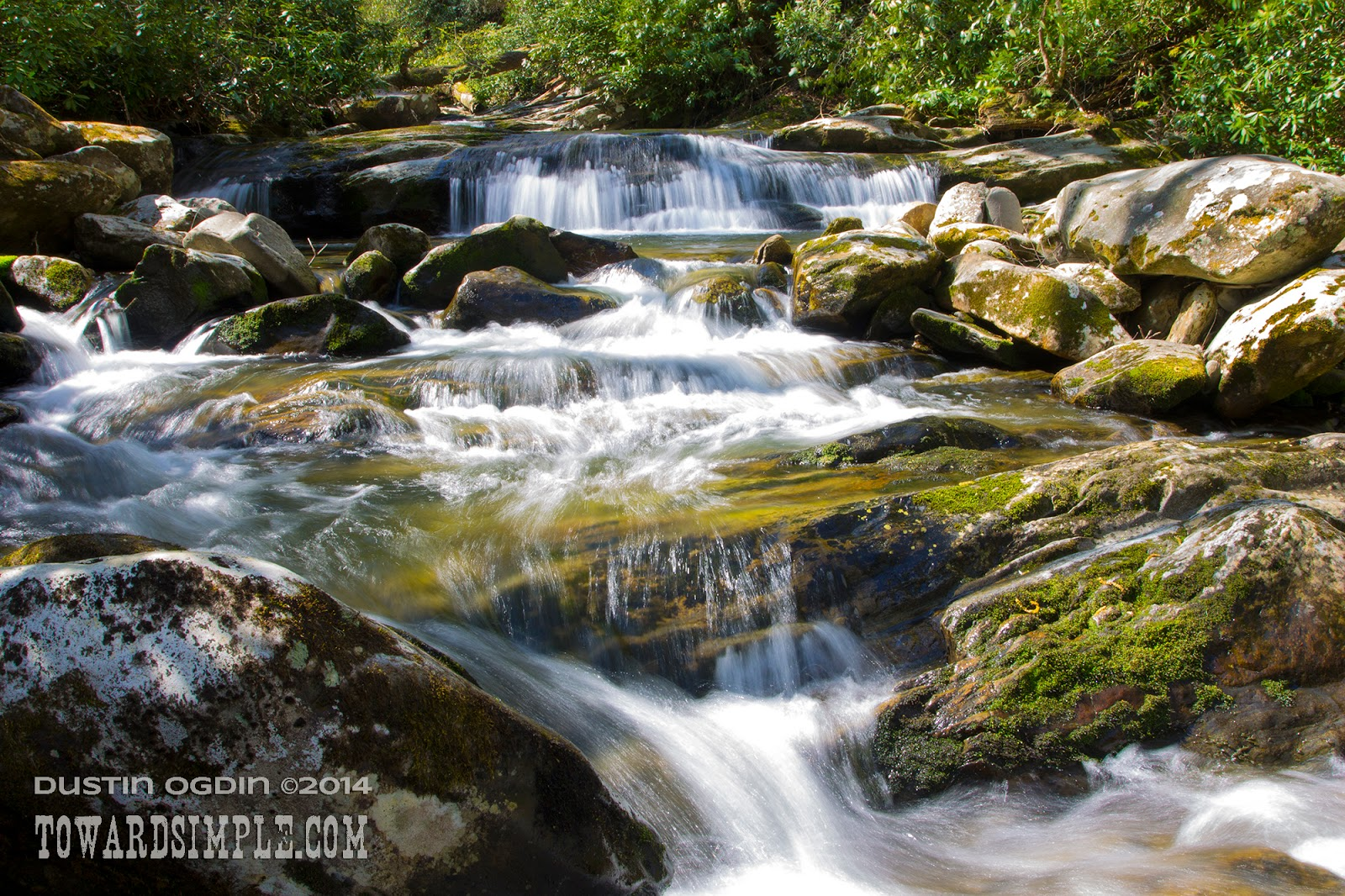 Rushing water, mountain creek