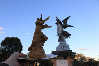 clay model by artist Jane Bennett of the Dixson Monument in Rookwood Necropolis