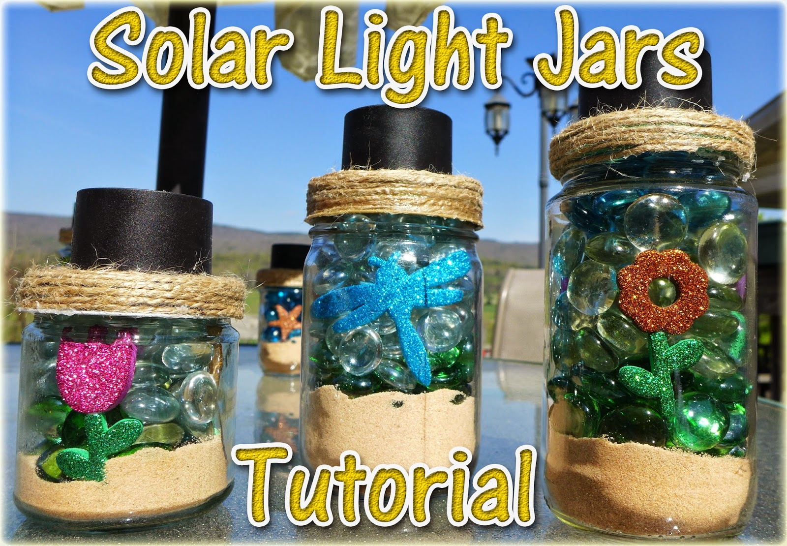 Easymeworld diy solar light jars beach theme for Where to buy solar lights for crafts