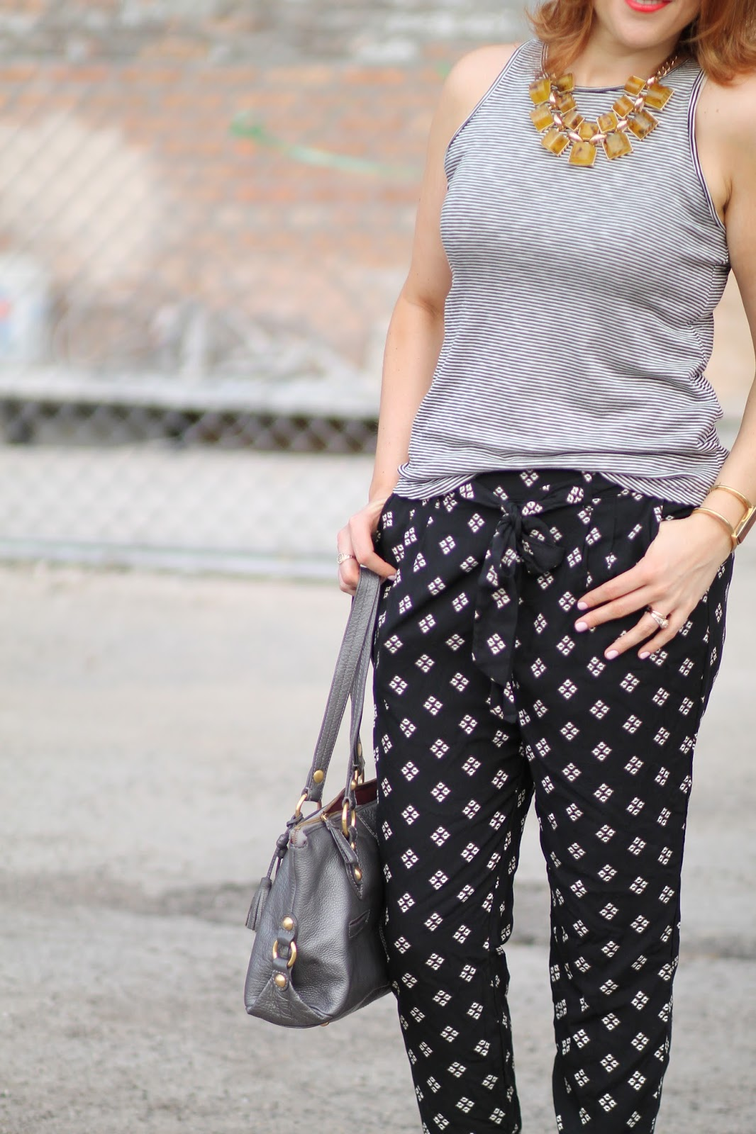 old, navy, printed, soft, pants