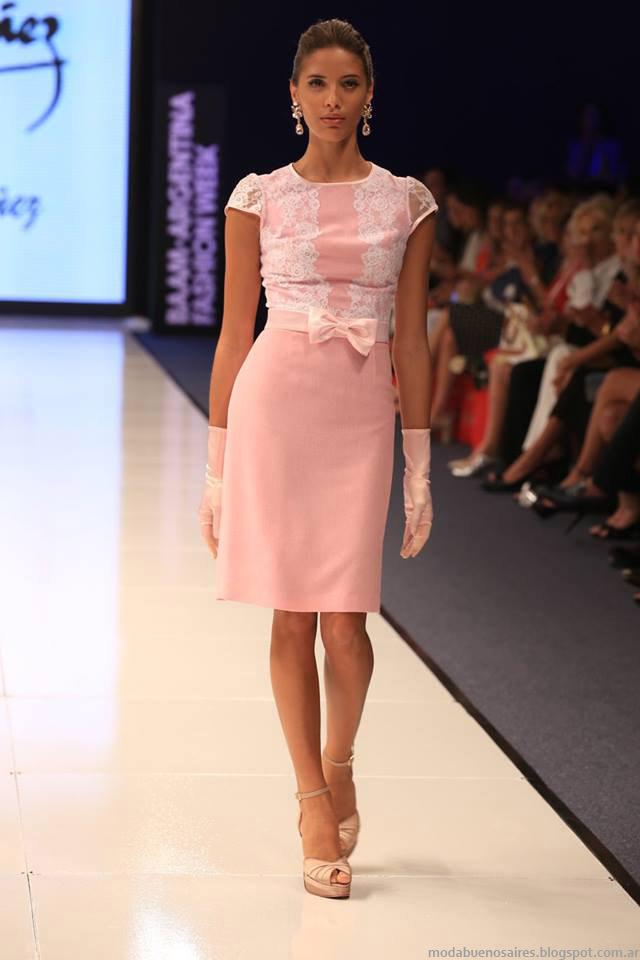 Moda otoño invierno 2015 Argentina Fashion Week. Vestidos de fiesta otoño invierno 2015 Jorge Ibañez by Mabel Ibañez.