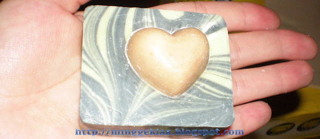 Heart Shaped Soap and Black and Green Swirl