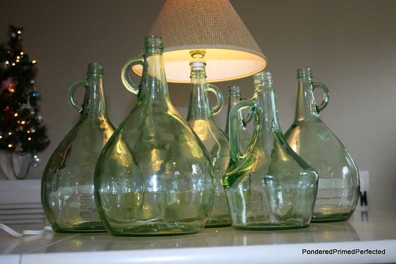 Pondered primed perfected glass wine bottles lamps for Champagne bottle lamp