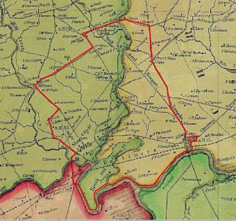 The Lower Red Clay Valley outlined in red.