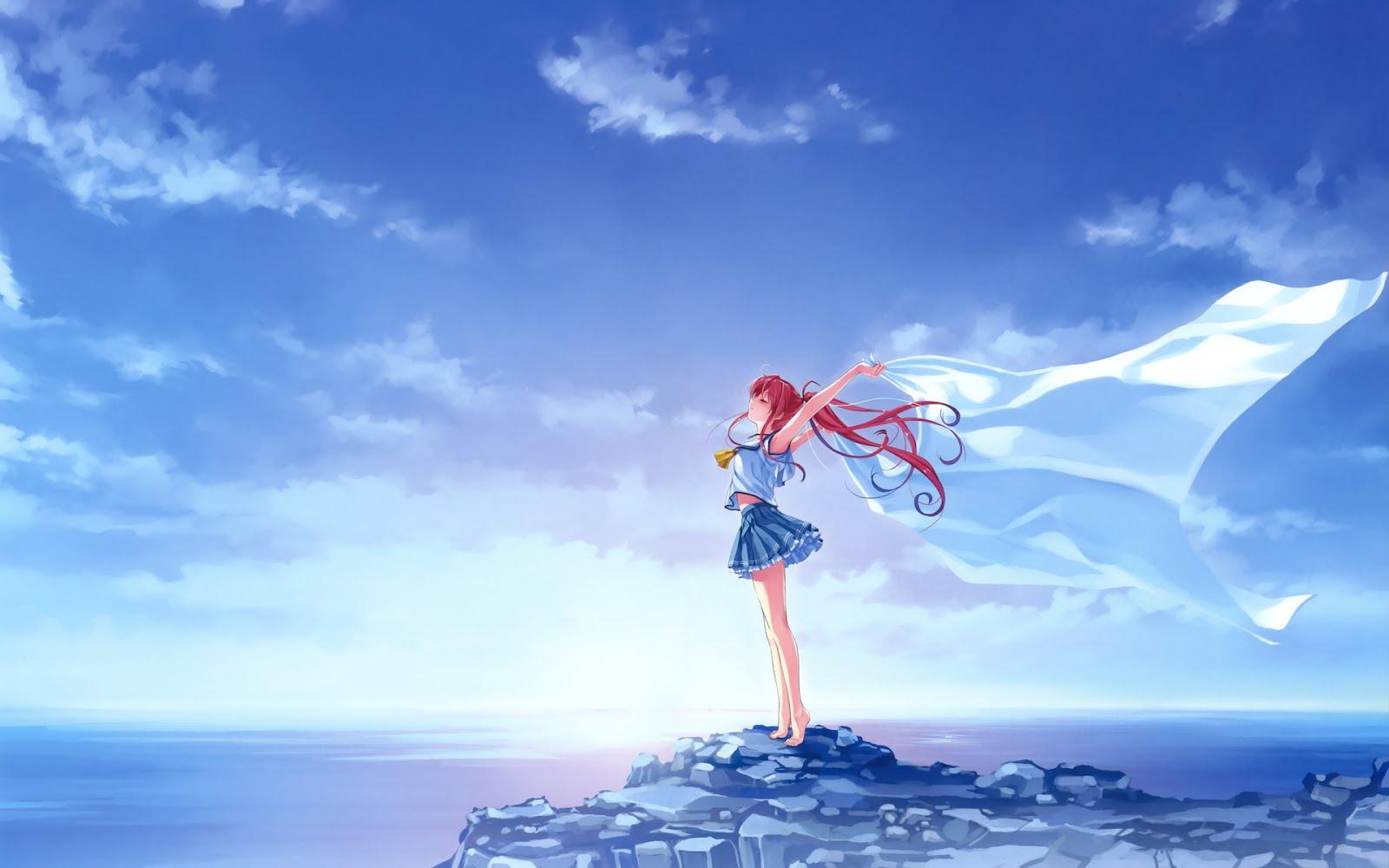 Una hermosa chica del anime (Cartoon y Manga)