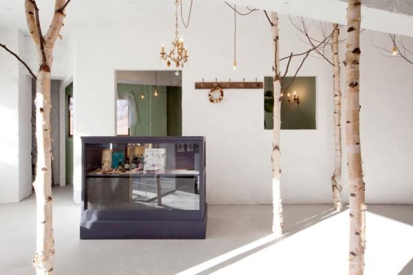 Onico Hair&Nail peluquería diseño de muebles Osaka Japón bosque
