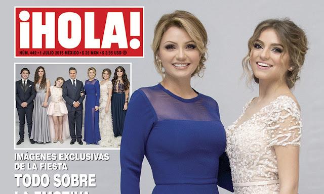 Angélica Rivera y su hija Sofía Castro mostrando el derroche en la revista ¡Hola!