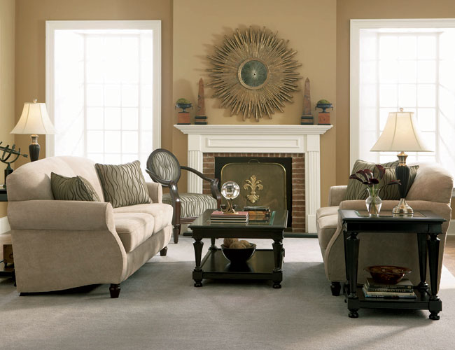 Beige colour living room