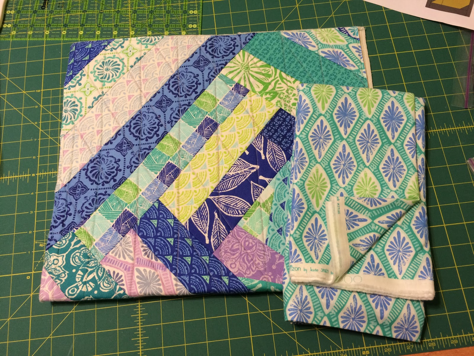 Sweet succotash quilts a rainbow quilt which i started because i had a jelly roll and wanted a quick sew then i didnt like it so have chopped it up and am adding white baditri Choice Image