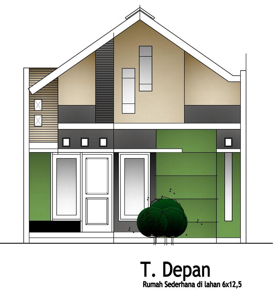 bentuk rumah sederhana 112 tampak depan