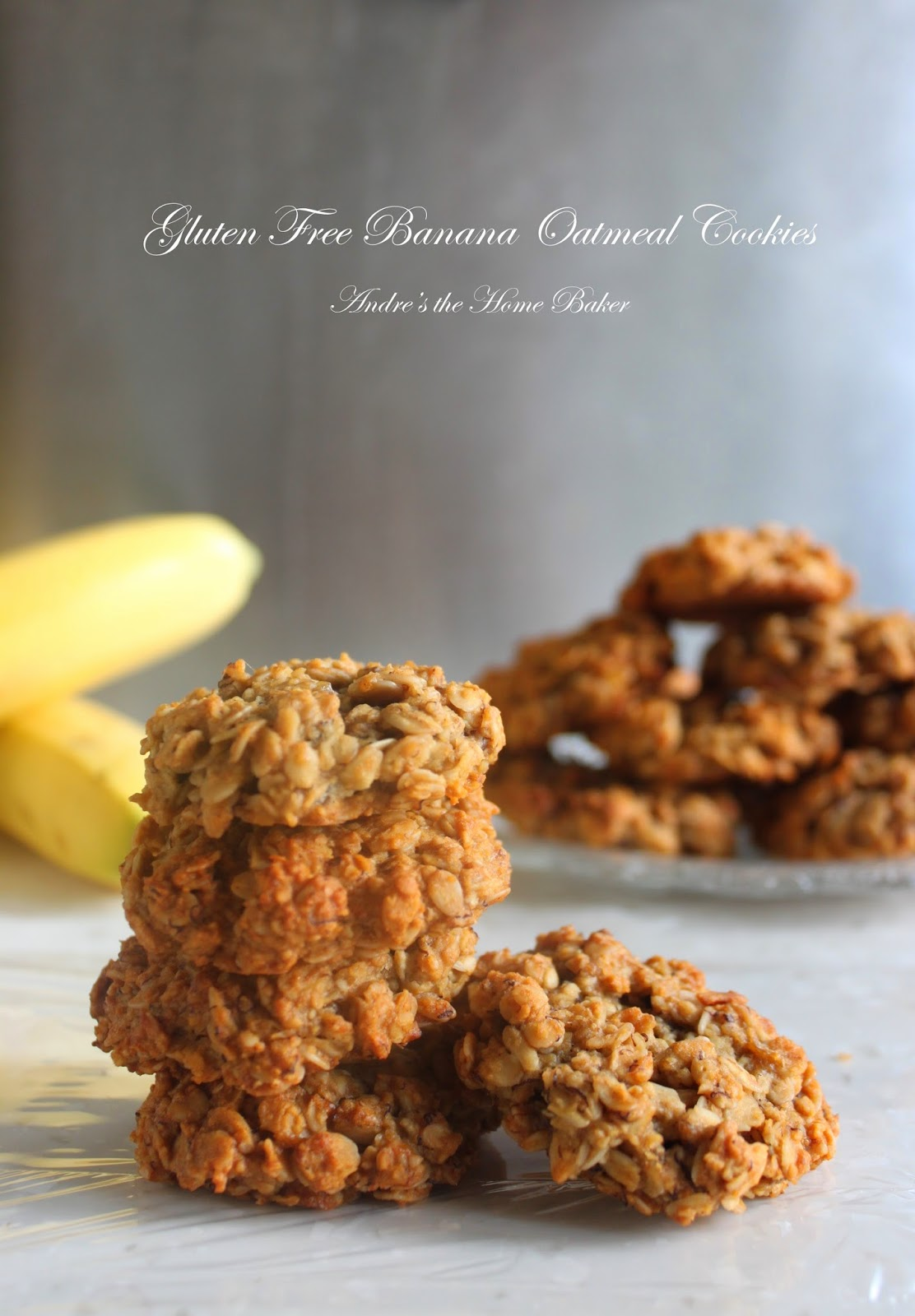 Andre's the Home Baker: ♥ Gluten Free Banana Oatmeal Cookies ♥