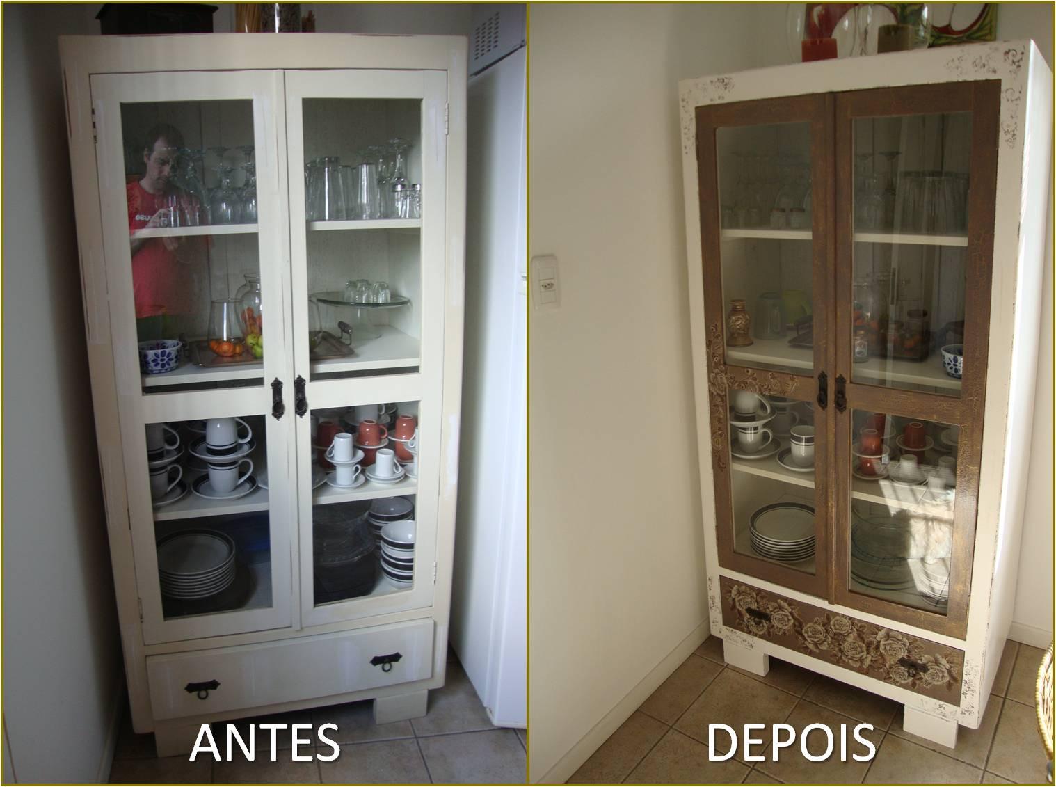 Cozinha Com Cristaleira Armrio De Cozinha E Cristaleira Antigo Em