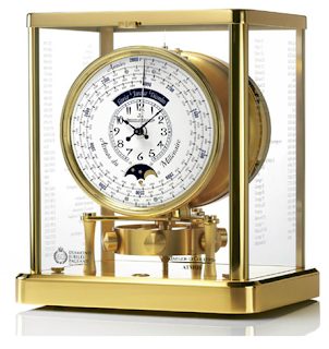 photos of Jaeger-LeCoultre's Atmos du Millenaire gold watch clock for queens diamond jubilee