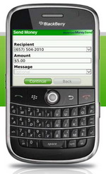 MasterCard MoneySend for BlackBerry launched