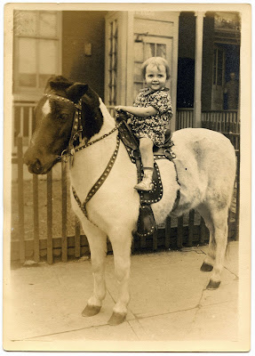 Old Photo Child on Pony