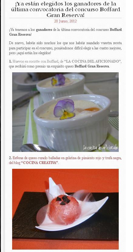 Cocina creativa somos ganadores del concurso de - Lazy blog cocina ...