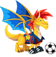 SOCCER DRAGON : FLAMING ROCK >