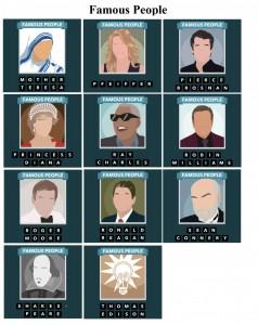 solution icomania niveau 15  personnages celebres