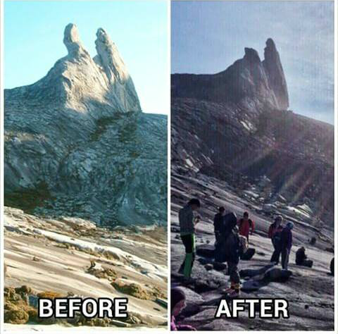 gambar donkey ears peak, gunung kinabalu