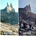Puncak Kinabalu Sebelum dan Selepas Gempa Bumi