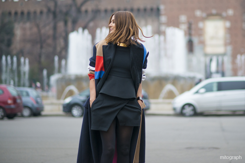 mitograph Christine Centenera wearing Celine Coat after Jil Sander 2013 2014 Fall Winter Show Milan Fashion Week MFW Street Style Shimpei Mito