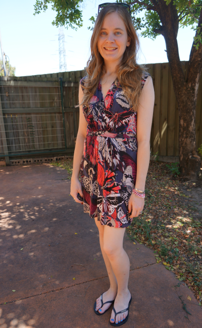 French Connection Butterfly Print Mini Dress Brisbane Heatwave Spring Outfit