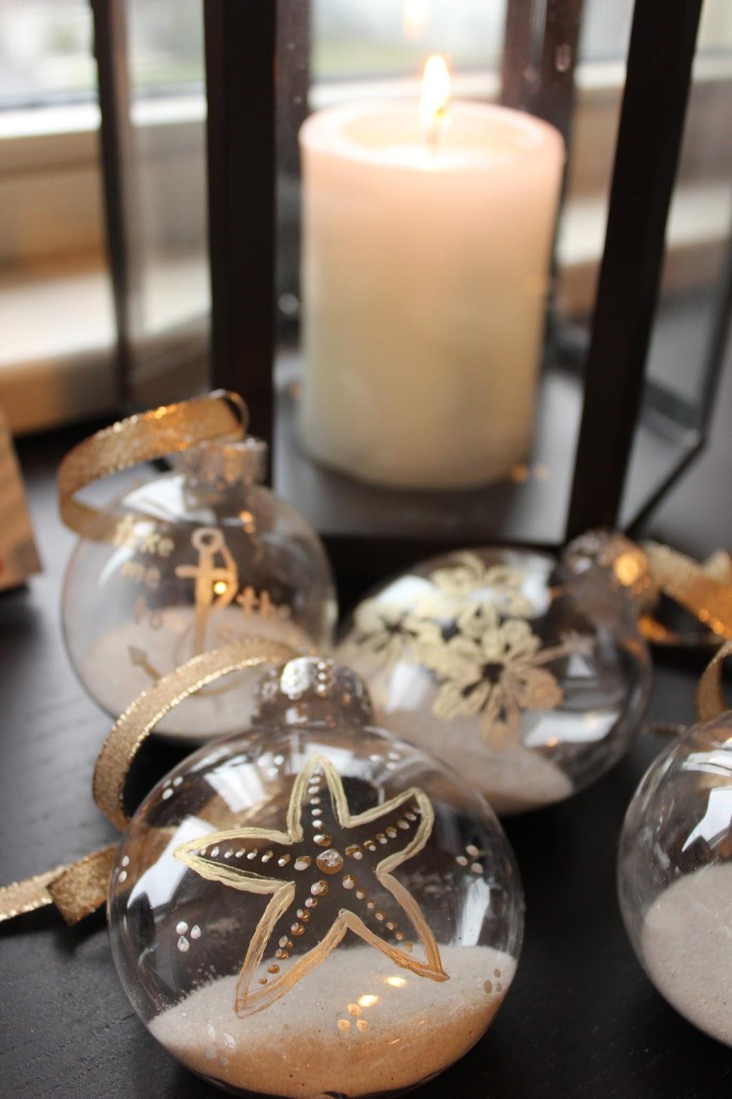 Beach themed christmas ornaments - Diy Coastal Christmas Decorations