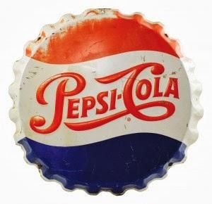 A marca da Pepsi recebeu a cor azul na década de 40 em um referencial ao patriotismo americano.