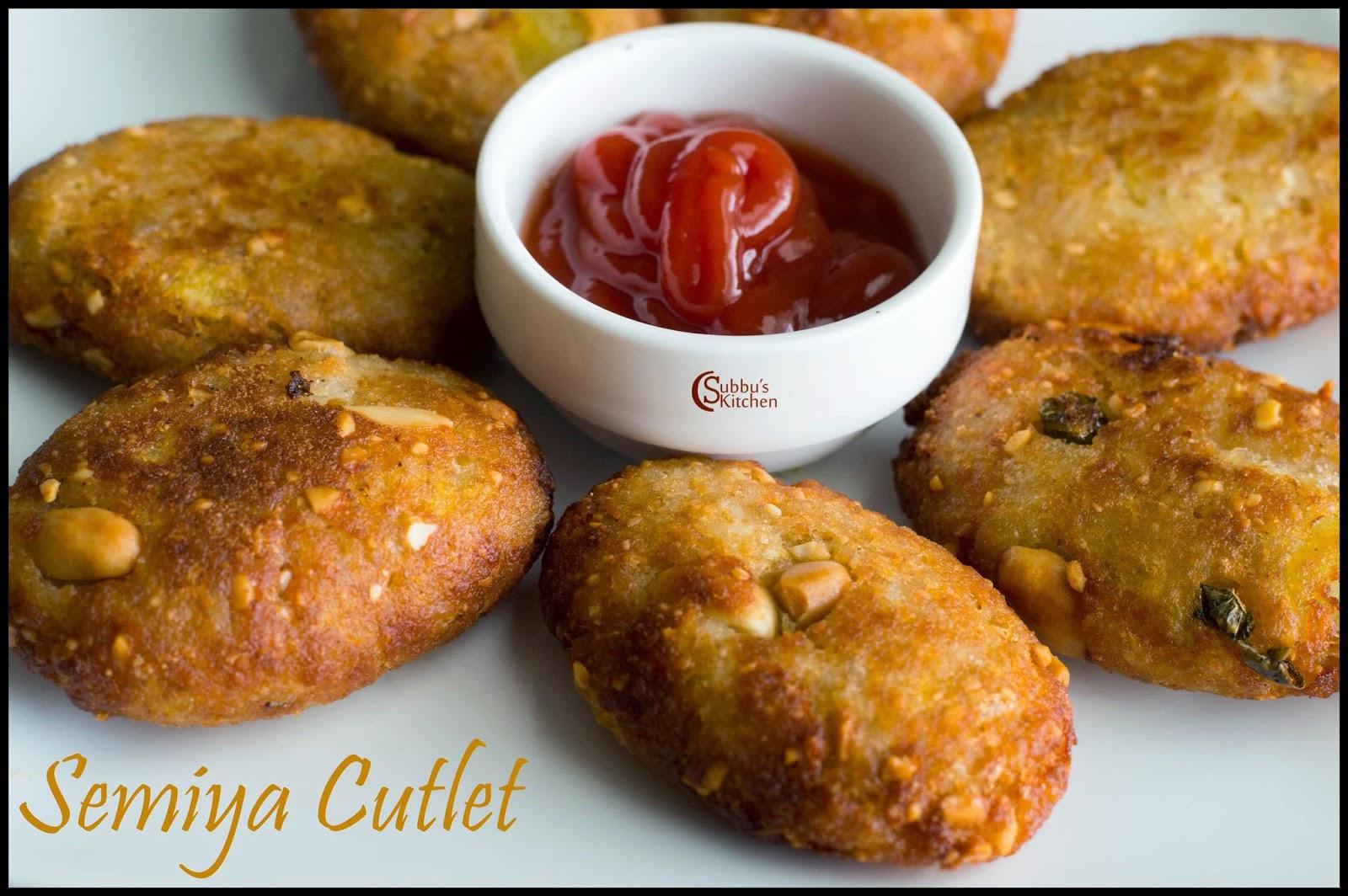 Vermicilli Cutlet Recipe | Semiya Cutlet Recipe