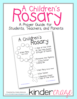 FREE Children's Rosary guide/coloring page