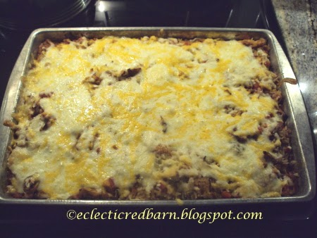 Eclectic Red Barn: Mexican Hot Dish cooked