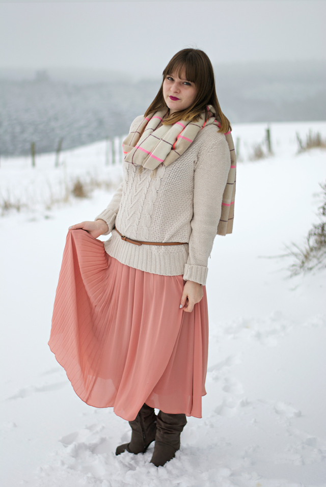 pleated summer maxi skirt winter snow