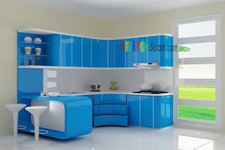 Kitchenset pelangi desain interior juli 2011 for Kitchen set warna putih