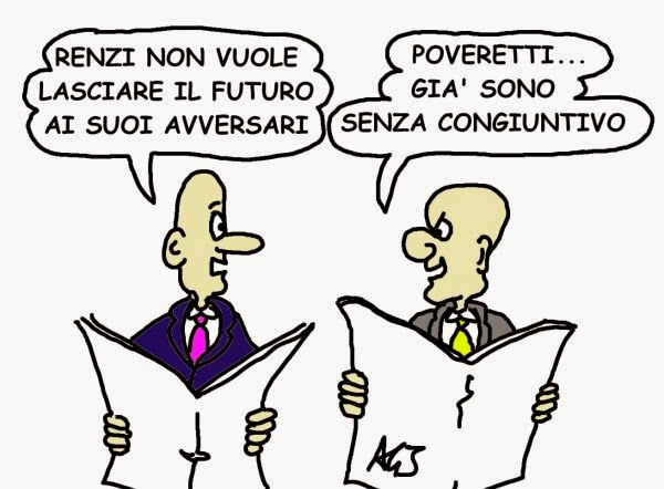 Renzi, Salvini, vignetta, satira