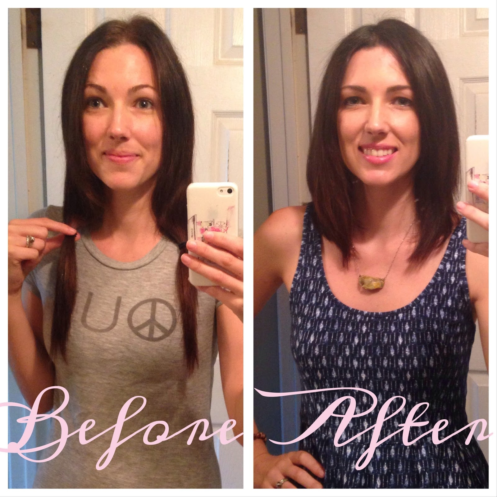 Cut 9 inches of hair to donate to CWHL