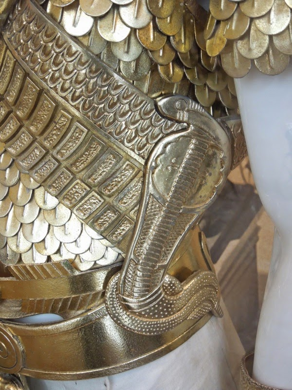 Ramesses Exodus Gods and Kings armour cobra detail