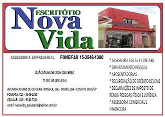 ESCRITÓRIO NOVA VIDA ASSESSORIA EMPRESARIAL EM BURI - SP Avenida Jovino de Oliveira Fonseca,186 - S