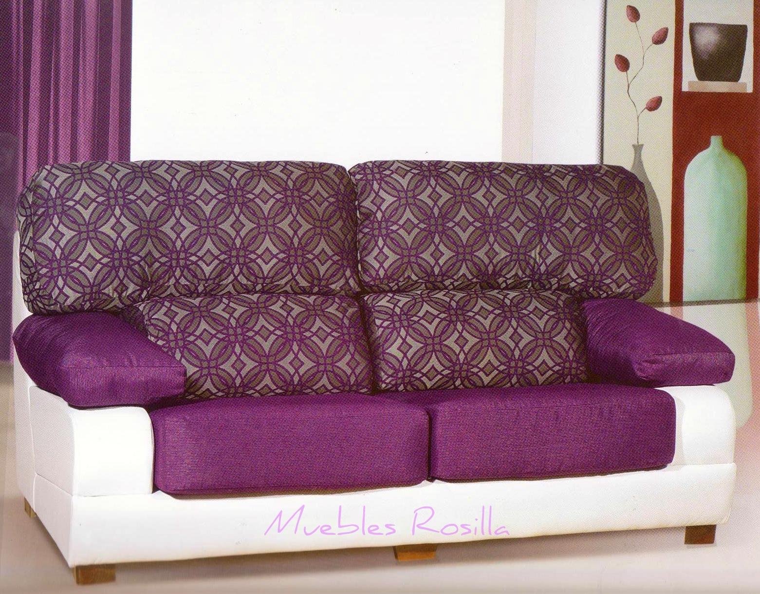 Muebles rosilla herv s sof mod for Sofas tela rustika