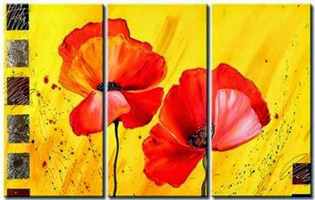 oleos-de-flores-rojas