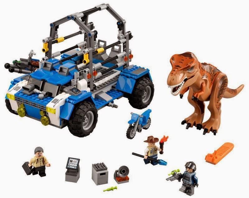 JUGUETES - LEGO Jurassic World  75918 T-Rex Tracker | Persecución | Rastreador   Producto Oficial Película 2015 | Piezas: 520 | Edad: 7-12 años