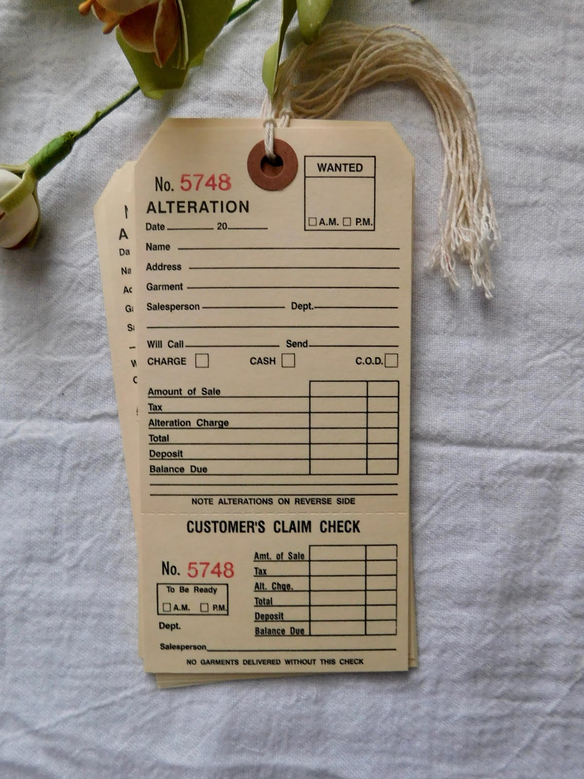 FOR SALE: Alteration Tag - Set Of 15